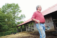 PBN Staff photo/Stephanie Ewens<br><br> <b>FARMER JOE BOSSOM</b> chose to sell his 200-acre farm in Tiverton to a nonprofit developer to preserve at least part of it for farming and provide affordable housing for artists on most of the rest.