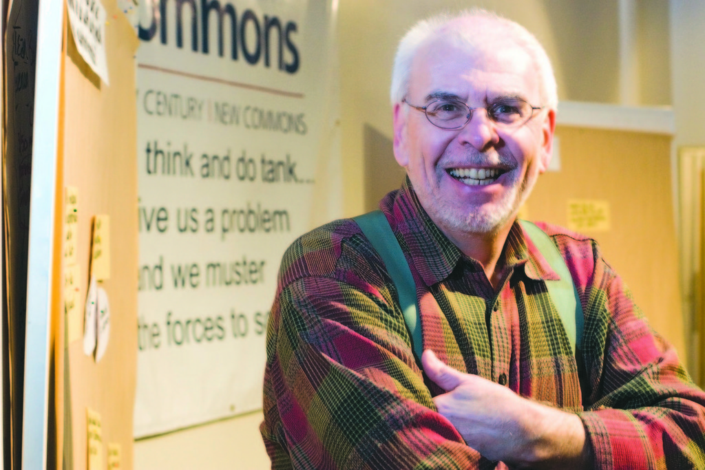 ROBERT J. LEAVER, founder of New Commons, is a proponent of regional partnerships for food, transportation and other services. /
