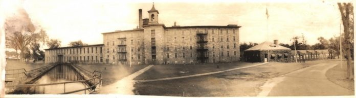 THIS PHOTOGRAPH, taken around 1900, shows Scituate's Hope Mill in its heyday. It was an active industrial site until last year, when it was sold to developers who plan to turn it into apartments and condominiums. /