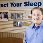 GARY GOLDBERG, CEO of CleanBrands LLC, shows off the new packaging and motto for his company's CleanRest mattress and pillow covers, which block even the tiniest allergens. Goldberg's goal is to lead that segment of the market. /