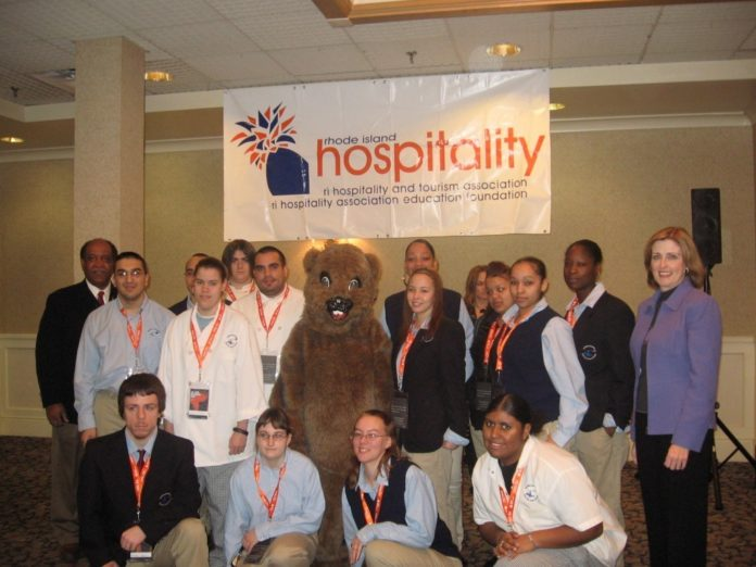 STUDENTS FROM Exeter Job Corps Academy pose with guest presenters for Groundhog Job Shadow Day at the Radisson Airport Hotel Providence in Warwick. The job-shadowing program was sponsored by the Rhode Island Hospitality and Tourism Association and Junior Achievement of Rhode Island. /