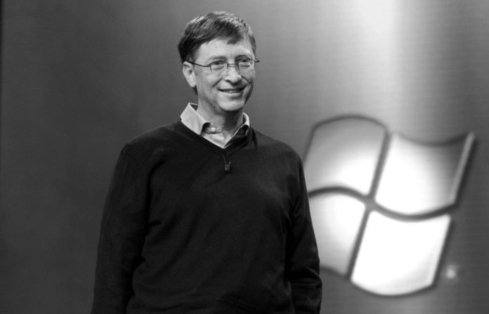 BILL GATES, chairman of Microsoft Corp., speaks late last month at a promotional event for the new Windows Vista. /