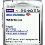CELL PHONES and other mobile devices are the newest banking channel for BofA customers. The service is due to become available in Rhode Island later this year. /