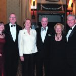 CELEBRATE R.I. Ball co-chairpeople, from left, Meredith and Joseph MarcAurele, Heidi Kirk Duffy and David Duffy, with hosts First Lady Suzanne Carcieri and Gov. Donald L. Carcieri. /