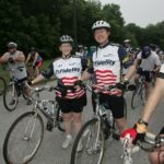 THE MS 150 BIKE TOUR, a  Multiple Sclerosis Society fundraiser, now in its 20th year, has been drawing increasing participation from Fidelity employees and their families. /