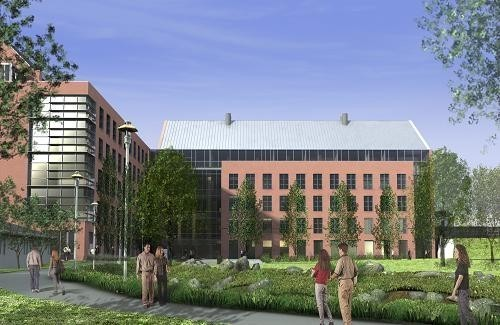 CLASSROOM and lecture hall space, faculty offices and a business incubator for biotech startups will be included in the 140,000-square-foot center. /