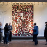 PROVIDENCE Art Windows fills empty storefronts with works such as 'Fragment Land,' a quilt by Mia Capodilupo of Chicago. /