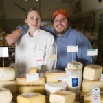 KATE AND MATT JENNINGS love cheese, and they love to share their passion and knowledge with their customers at Farmstead and La Laiterie. Matt writes out a card for each cheese by hand, noting the flavor and provenance. /