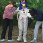 TEAM-BUILDING exercises such as this one help Leadership Rhode Island participants develop their interpersonal skills. /