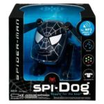 SPi-DOG - an i-Dog music toy available in black, above, or classic Spidey red and blue - is among the Marvel-related merchandise. /