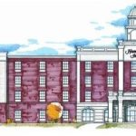 THE HAMPTON INN to be built off Division Street in Pawtucket is seen as the potential linchpin for redevelopment of the city's waterfront.  /