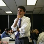 MICHAEL ROBERTO, an associate professor of management at Bryant University, teaches a marketing course in the MBA program.  /