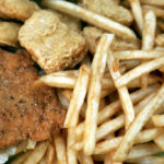 NATIONWIDE, most fried foods still are cooked in oils that contain trans fats. Above, fried foods from McDonald's, which cites the difficulties of finding a good replacement oil. /