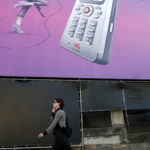 A BILLBOARD in Germany promotes Sony Ericsson phones, a very successful joint venture. /