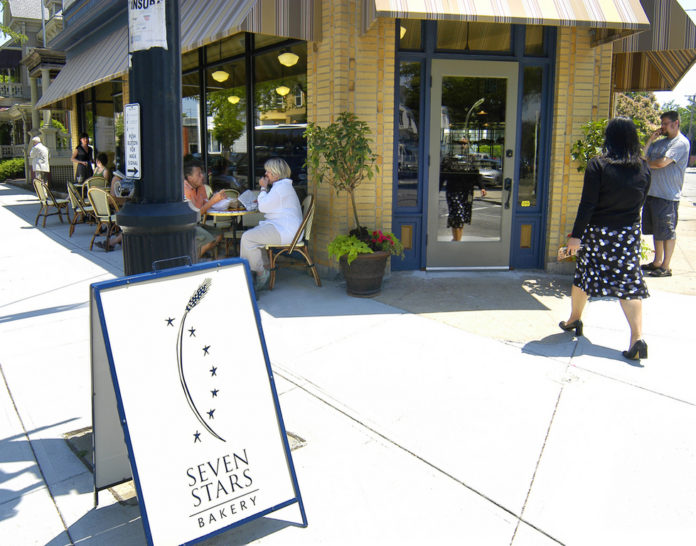 SEVEN STARS BAKERY's second location, on Broadway, is welcomed by neighbors both for its bread and for  its sidewalk appeal. /