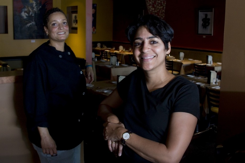 RESTAURATEURS Phyllis Arffa, left, and Christine Edmonds set out to create a welcoming, eclectic environment in their Blaze restaurants. But the real star is the food - all made from scratch with fresh ingredients and an international flair. /