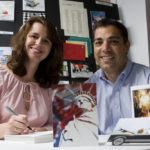 MICHELLE AND DARIN MINGHELLA, president and vice president of Elite Greetings, started the company two years ago with the idea of nurturing client relationships through cards sent, for example, for Major League Baseball opening day or Halloween. /