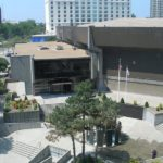 IN THIS 2006 VIEW, before the latest round of renovations started, the Dunkin' Donuts entrance is not connected with the Convention Center. /
