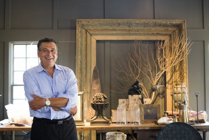 Richard Kazarian, owner of Richard Kazarian Antiques, has been collecting for more than 20 years and sells wholesale out of his studio/store in Pawtucket. /
