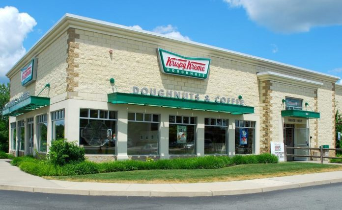 THE KRISPY KREME store on Pontiac Avenue in Cranston will shut its doors on July 12 after four years in this market. /