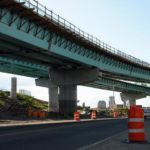 THE RAMPS connecting Interstate 95 with the relocated Interstate 195 have been taking shape for months, and with each big, blue piece that gets added to support columns, motorists can better imagine what the finished project will look like. /
