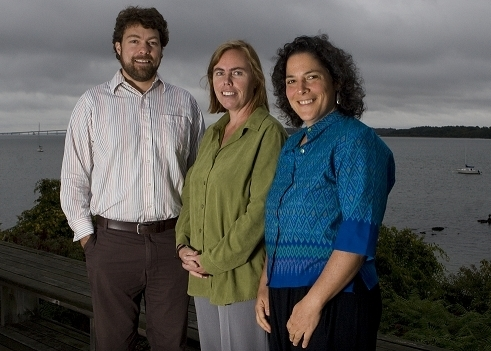 AUSTIN BECKER, left, Jennifer McCann and Pam Rubinoff are all helping organize the Sea Grant Science Symposium. /
