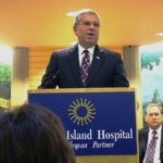 GOV. DONALD L. CARCIERI speaks at Rhode Island Hospital on Oct. 30, helping announce its $11.1M federal grant from the National Center for Research Resources, a division of the NIH. The money will help the hospital establish a Center of Biomedical Research Excellence (COBRE) for Skeletal Health and Repair. /