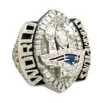 JOSTENS DESIGNED and manufactured this ring for the New England Patriots, to commemorate their SuperBowl XXXIX triumph, and also has crafted championship rings for the Boston Red Sox. /