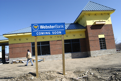WEBSTER BANK is constructing a new branch that will open this summer in North Kingstown's Wickford Junction. /