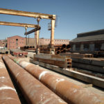 MATERIAL USED for track maintenance sits in a Pawtucket freight yard where a transfer station for construction trash was proposed. The city and other opponents recently won a court ruling blocking the proposed project at the junction of Goff and Pine streets. /