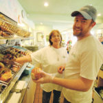 BAGELS APLENTY are found at this Wakefield shop managed by Scott Lieberman. His mother, Nancy, co-manages another Bagelz, located at URI. /