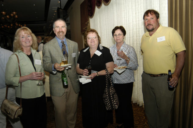 Honorees from Aero Mechanical, a winner in the Small Category, enjoy the festivities. / PBN Photo/Frank Mullin