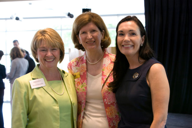 Mary Lakin, Honoree Kati Machtley, and Sheila Guay of Bryant University.  / PBN Photo/Stephanie Ewens