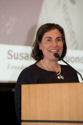 Mentor and Ally Honoree, Susan Colantuono, Leading Women. / PBN Photo/Stephanie Ewens