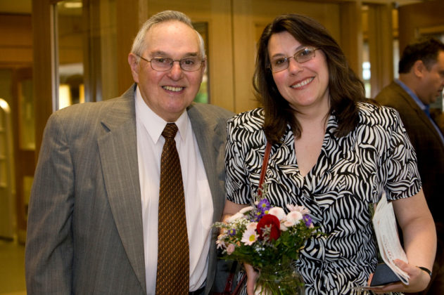 Honoree Michelle Wilcox, of Crossroads Rhode Island, and her father. / PBN Photo/Stephanie Ewens