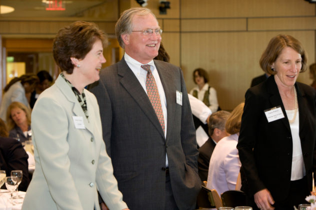 Pamela Sawin, LGC&D, Jim Hahn and Laura Pedrick, Partridge, Snow & Hahn.  / PBN Photo/Stephanie Ewens