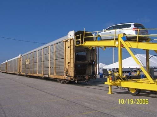 THE PORT OF DAVISVILLE currently receives foreign cars via cargo ship, but domestic cars are also carried in and out by train. / PHOTO COURTESY OF QDC