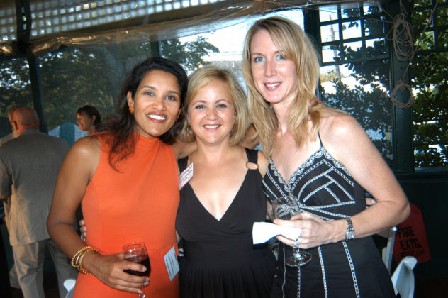 Honoree Sonia Millsom(l) of UnitedHealthcare, with Amy Gallagher and Sheila Santos. / PBN Photo/Frank Mullin