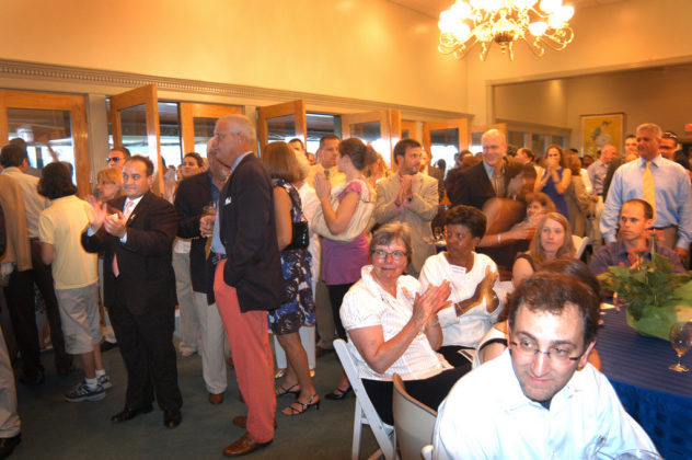 The crowd watches as the 40 Under Forty awards are bestowed upon the 2008 honorees. / PBN Photo/Frank Mullin