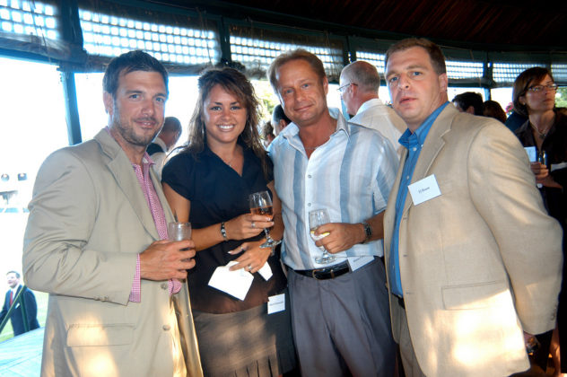Honoree Joseph Hearn(l), Sherri Normandin, Brian Forrestt and TJ Hearn. / PBN Photo/Frank Mullin