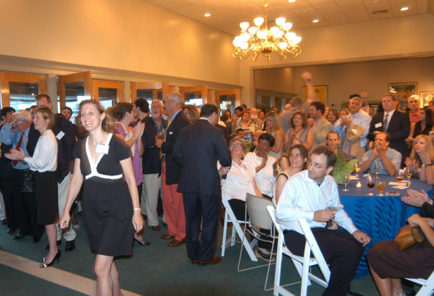 Crowds applaud during the awards ceremony in the USTA Wing. / PBN Photo/Frank Mullin