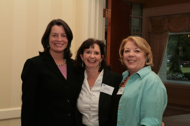 RI Lieutenant Governor Elizabeth Roberts(l), Dianne Ritter, RI Economic Development Corp, and Joanne Johnson of Tech Collective. / PBN Photo