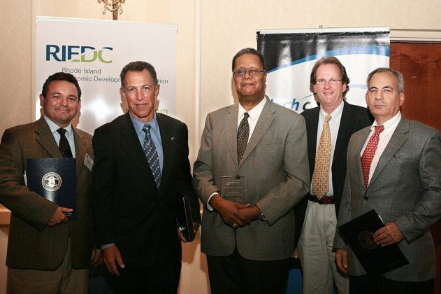 Honored guests from the University of Rhode Island's Providence Biotechnology Center. / PBN Photo