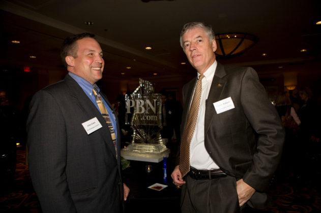 John Gates(l) and Charlie Roberts, The Washington Trust Company.  / PBN Photo/Victoria Arocho
