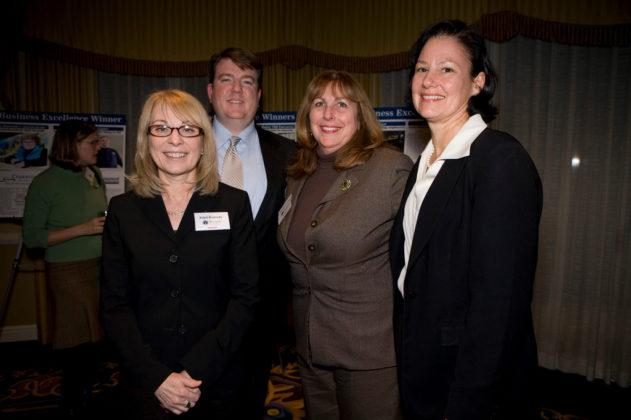 Ethel Kennedy, Kris Sullivan, Annette Cerilli and Cecilia Cooper, Bryant University. / PBN Photo/Victoria Arocho