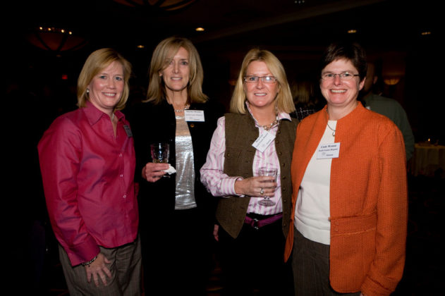 Sharon Ann Deluca, Martha Murphy, Betsy Cote, and Cindy Wyman, South County Hospital, which won the award for community involvement. / PBN Photo/Victoria Arocho