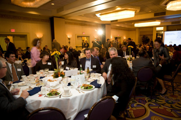 The Grand Ballroom of the Providence Marriott as it fills to capacity with many noteworthy guests and award recipients. / PBN Photo/Victoria Arocho