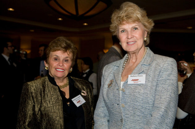 Kathleen Connell(l) and Barbara Peters of AARP. / PBN Photo/Victoria Arocho