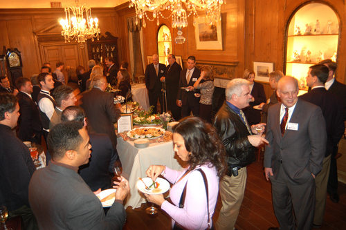 Guests mingle at the Sponsor Reception in the Porcelain Gallery. / PBN Photo/Frank Mullin