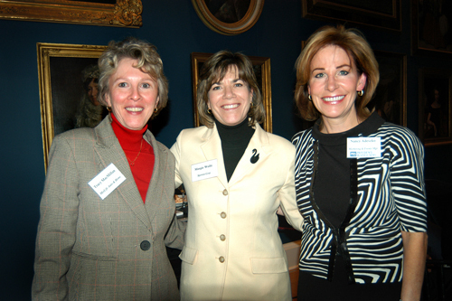 Tracy MacMillan(l), MetLife Auto and Home, Margie Wolfe, Sperian Corp, and Nancy Adeszko of PBN. / PBN Photo/Frank Mullin